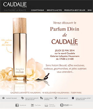 PARFUM DIVIN DE CAUDALIE newsletter newsletters e-mailing emailing