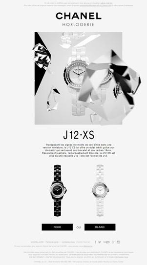 CHANEL HORLOGERIE J12 - XS newsletter newsletters e-mailing emailing